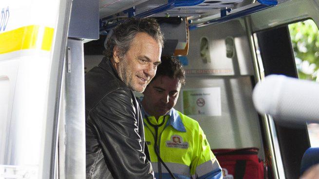 José Coronado durante el rodaje de la serie 'El príncipe' /Gtres