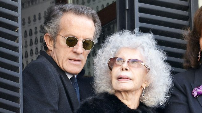 Alfonso Díez y la duquesa de Alba