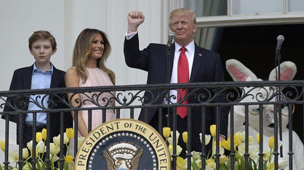 Donald Trump, Melania Trump y Barron