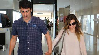 María José Campanario abandona los juzgados junto su marido Jesulin /Gtres