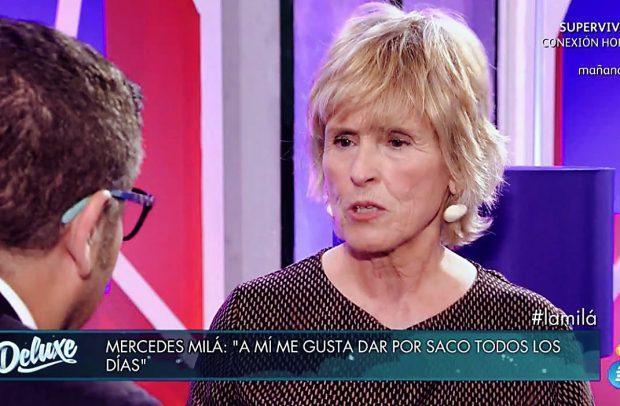 Mercedes Milá durante la entrevista del 'Deluxe' /Telecinco