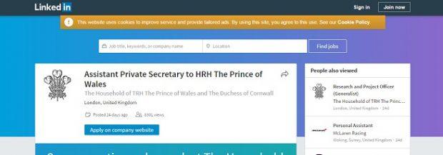 ¿Quieres trabajar en un palacio? Carlos de Inglaterra busca asistente por LinkedIn