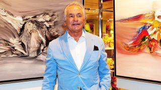 Pincha en la imagen para ver la galería | Palomo Linares durante la inauguración de la exposición 'Tauromaquia y moda' / GTRES
