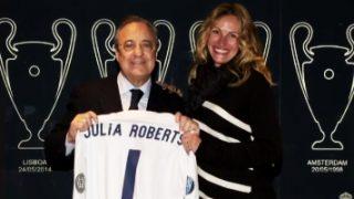 Julia Roberts visita el Santiago Bernabéu / Facebook