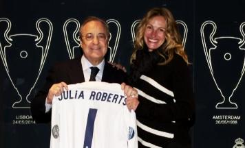 Julia Roberts visita el Santiago Bernabéu