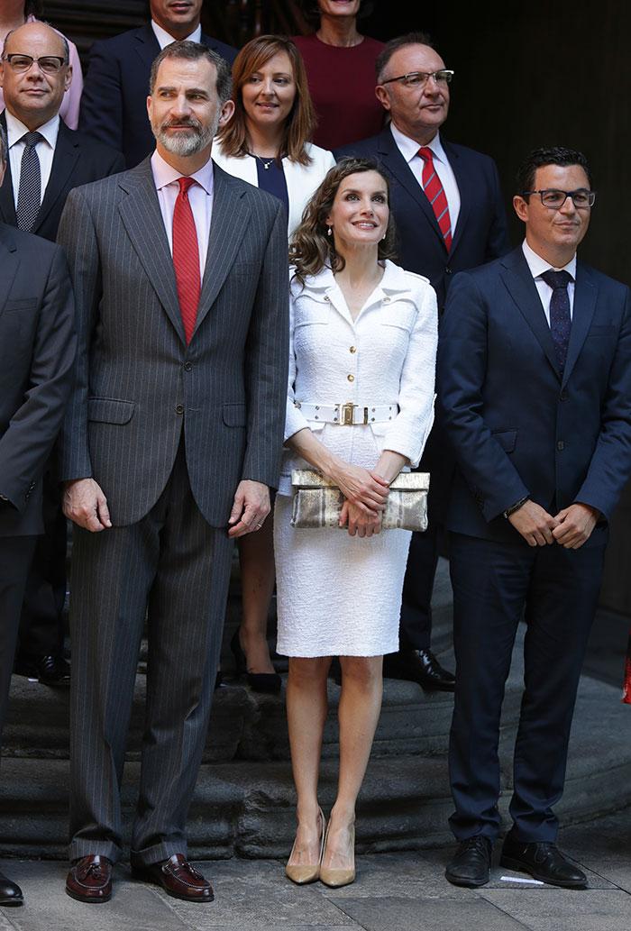 letizia traje blanco