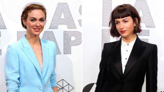 Marta Hazas y Úrsula Coberó demuestran que el traje puede ser muy sexy y favorecedor. Haz clic para ver la galería. / Gtres