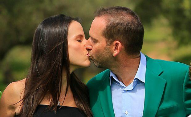 Sergio García y Angela Akins