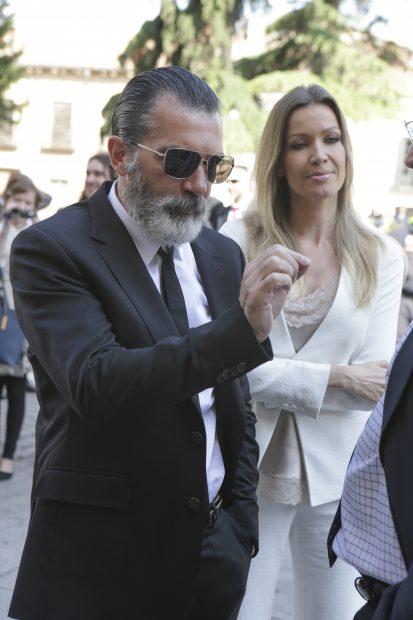 Antonio Banderas con Nicole Kimpel