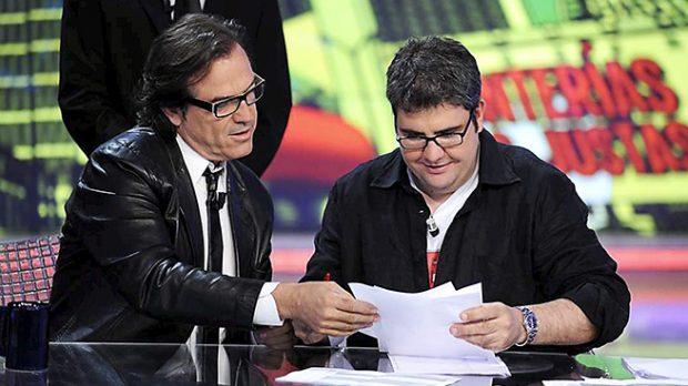 Pepe Navarro y Florentino Fernández durante el programa 'Tonterías las justas' /Gtres