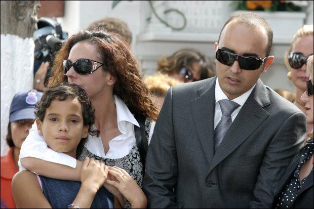 Rociíto con su marido y su hermana Gloria Camila