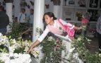 Gloria Camila en el cementerio de Chipiona