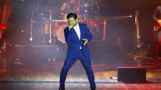 El cantante David Bustamante durante el concierto en León /Gtres