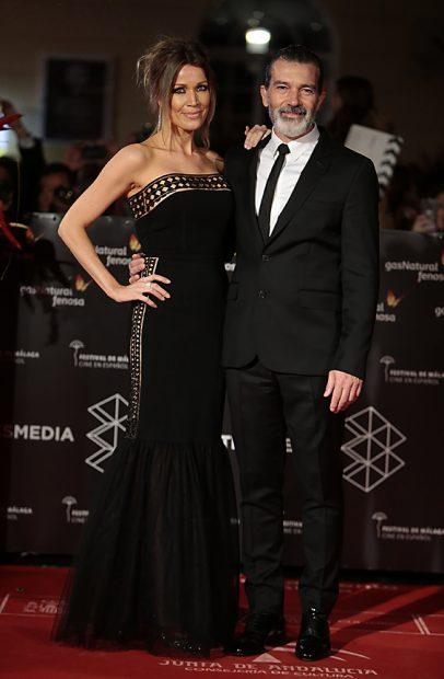 Antonio Banderas y Nicole Kimpel en el Festival de Cine de Málaga / Gtres