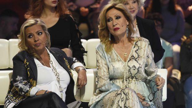 Carmen Borrego y Rosa Benito durante el debate del programa de 'Supervivientes' /Gtres