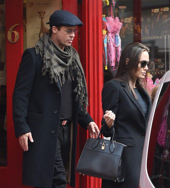 Angelina y Brad por Londres
