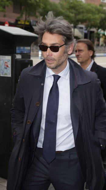 Sebastián Palomo Danko a su llegada al funeral /Gtres