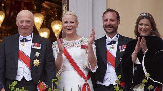 El balcón real el día de la cena de gala del cumpleaños del rey Harald y la reina Sonia /Gtres
