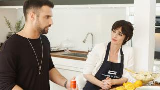 Jesús Castro y Paz Vega durante el programa 'Mi casa es la tuya' / Mediaset