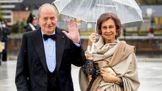 Don Juan Carlos y Doña Sofía durante el 80 cumpleaños del rey Harald de Noruega / Gtres