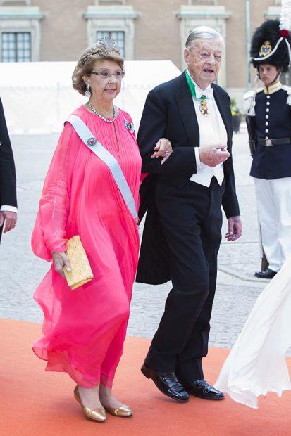 Niclas Silfverschiald y la princesa Desireé de Suecia