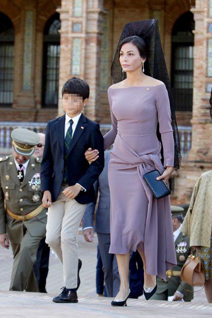La modelo Inés Sastre y su hijo Diego /Gtres
