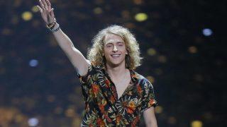 Manel Navarro durante su actuación en Eurovisión /Gtres