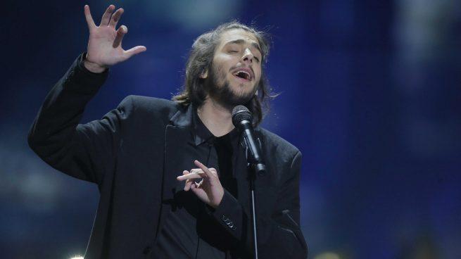 Salvador Sobral durante su actuación de 'Eurovisión 2017'/Gtres