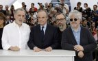 Fernando Trueba, Frederic Mitterand, Álex de la Iglesia y Pedro Almodóvar