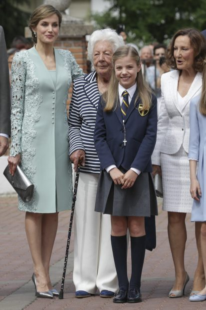La reina Letizia, su abuela Menchu Alvarez y su madre, Paloma Rocasolano