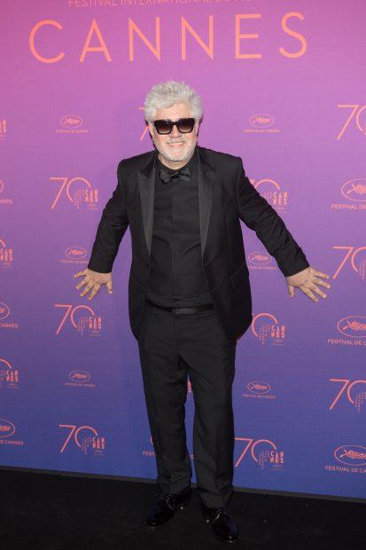 Pedro Almodovar en la cena de inauguración de Cannes 2017