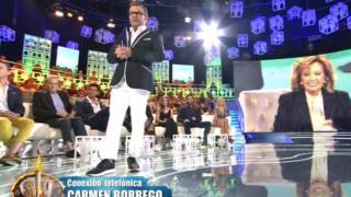 Carmen Borrego durante su llamada a 'Supervivientes' / Telecinco.es