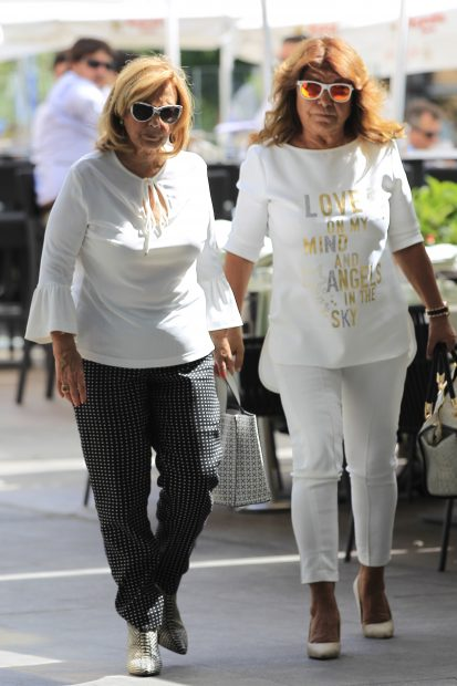 La periodista Teresa Campos con su amiga Meli Camacho