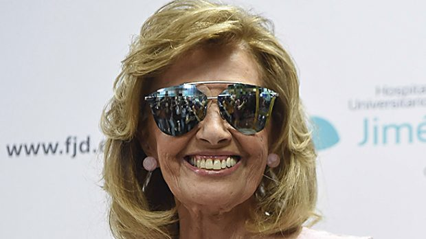 María Teresa Campos a su salida del hospital /Gtres