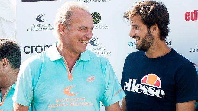 El tenista Feliciano López y el presentador y cantante Bertín Osborne