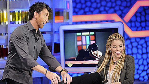 Shakira y Pablo Motos durante la entrevista hace siete años/ Gtres