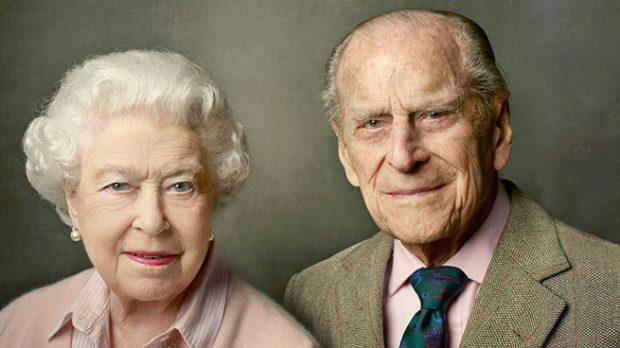 La reina Isabel y el Duque de Edimburgo