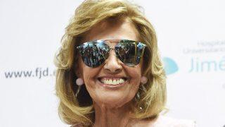 La periodista María Teresa Campos saliendo del hospital Fundación Jiménez Díaz / Gtres