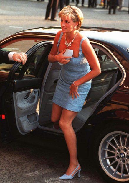 Diana de Gales coche