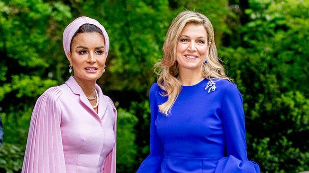 La jequesa de Qatar y Máxima de Holanda