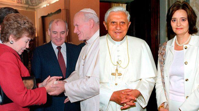 Raisa Gorbachov y Cherie Blair