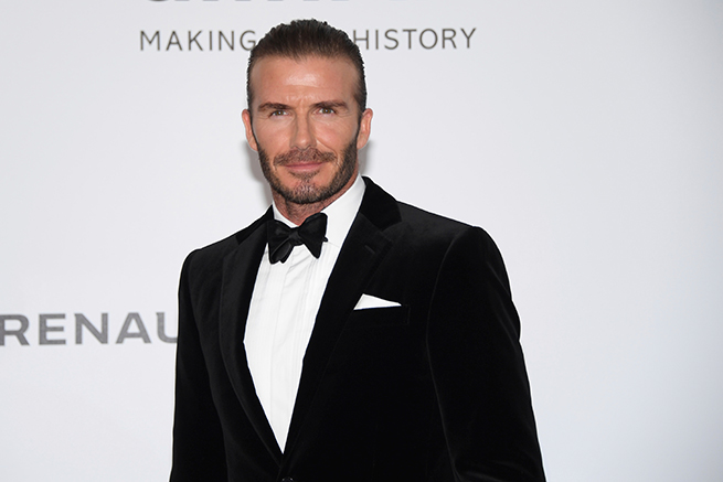 David Beckham Cannes amfAR