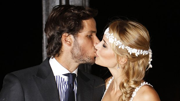Alba Carrillo y Feliciano López el día de su boda /Gtres