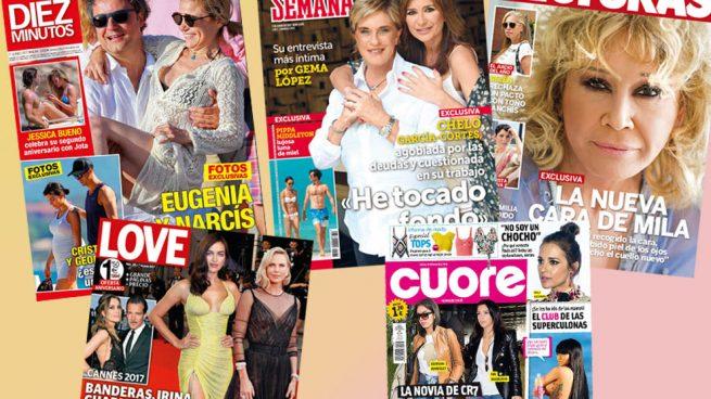 Eugenia Martínez de Irujo, Mila Ximénez o Pippa Middleton, protagonistas de los kioscos