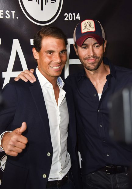Rafa Nadal y Enrique Iglesias