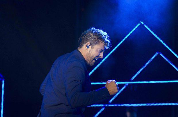 David Bisbal durante su último concierto /Gtres