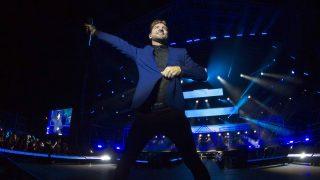 El cantante David Bisbal durante un concierto en Almería /Gtres