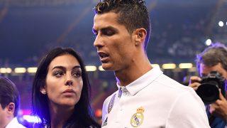 Georgina Rodríguez y Cristiano Ronaldo durante la final de la Champions / Gtres