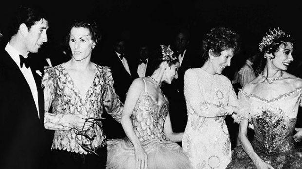 El príncipe Carlos y Nancy Reagan