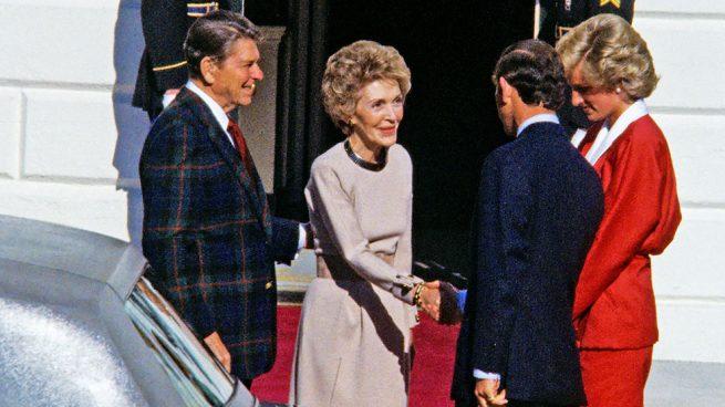 Carlos y Diana de Gales, Ronald y Nancy Reagan